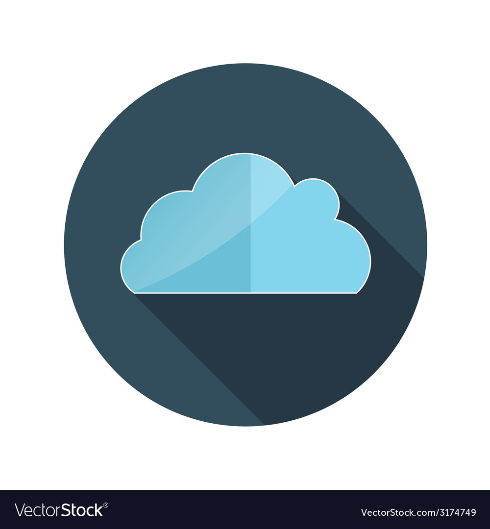 Flat design concept cloud with long shadow vector | Price: 1 Credit (USD $1)