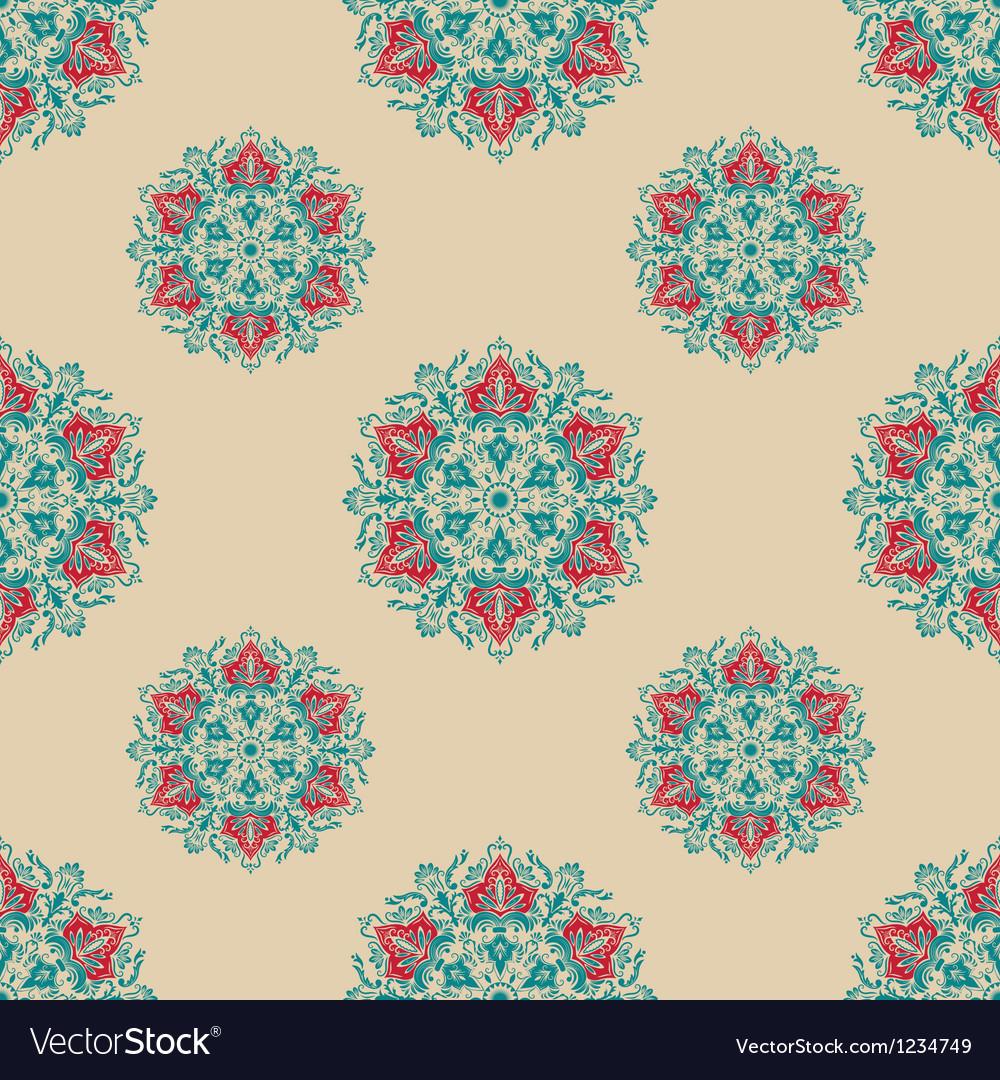 Floral ornamental pattern vector | Price: 1 Credit (USD $1)