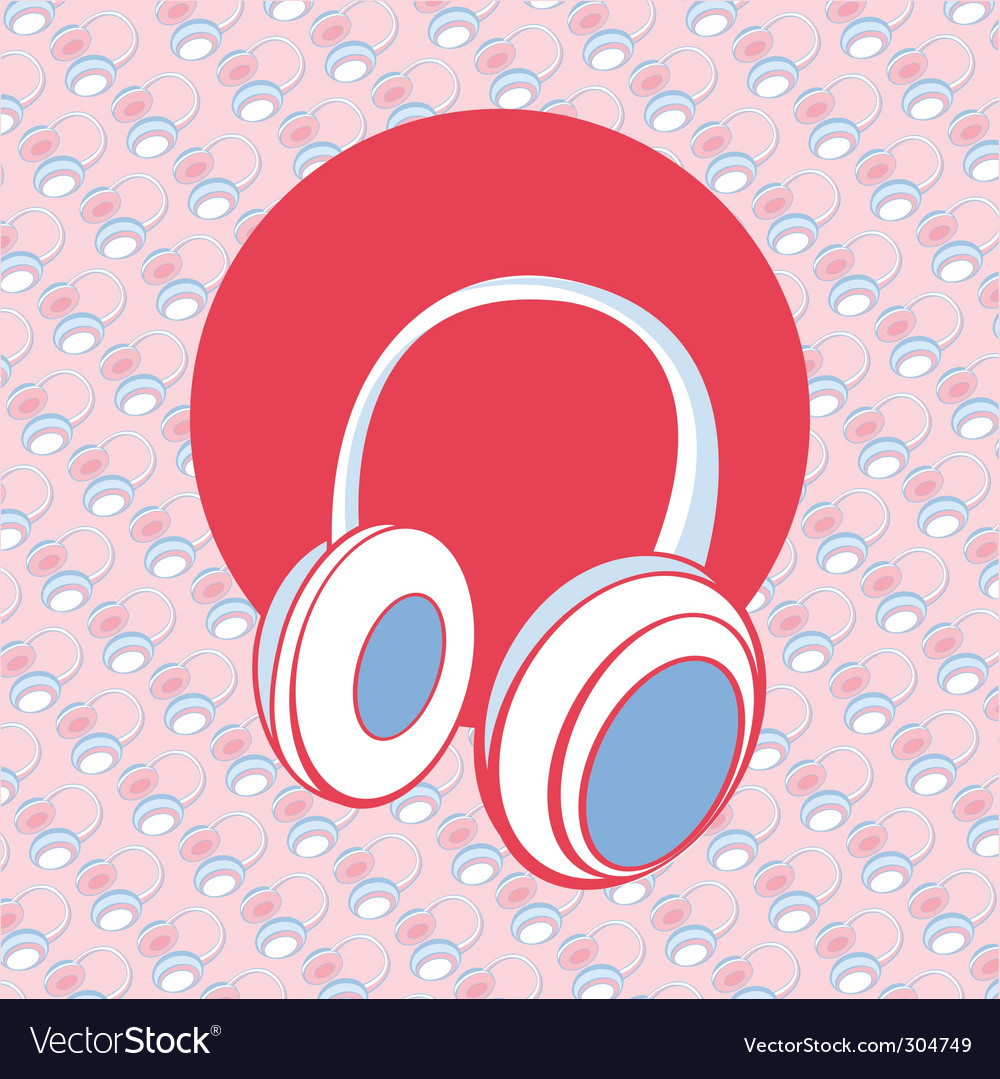 Head phones vector | Price: 1 Credit (USD $1)