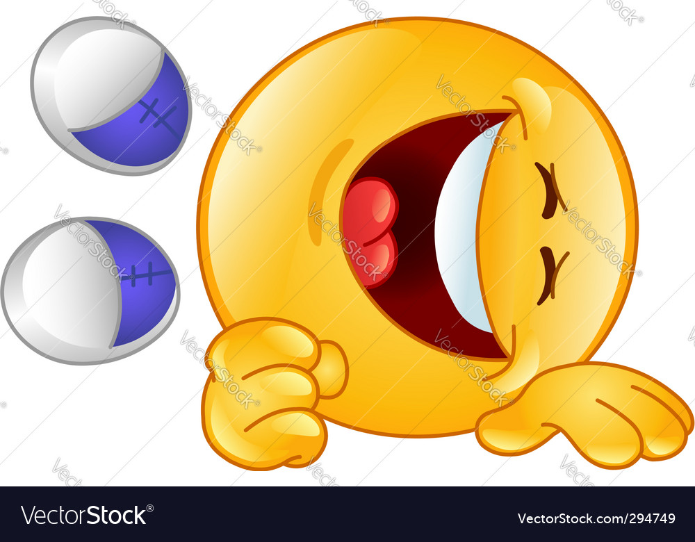 Laughing emoticon vector | Price: 1 Credit (USD $1)