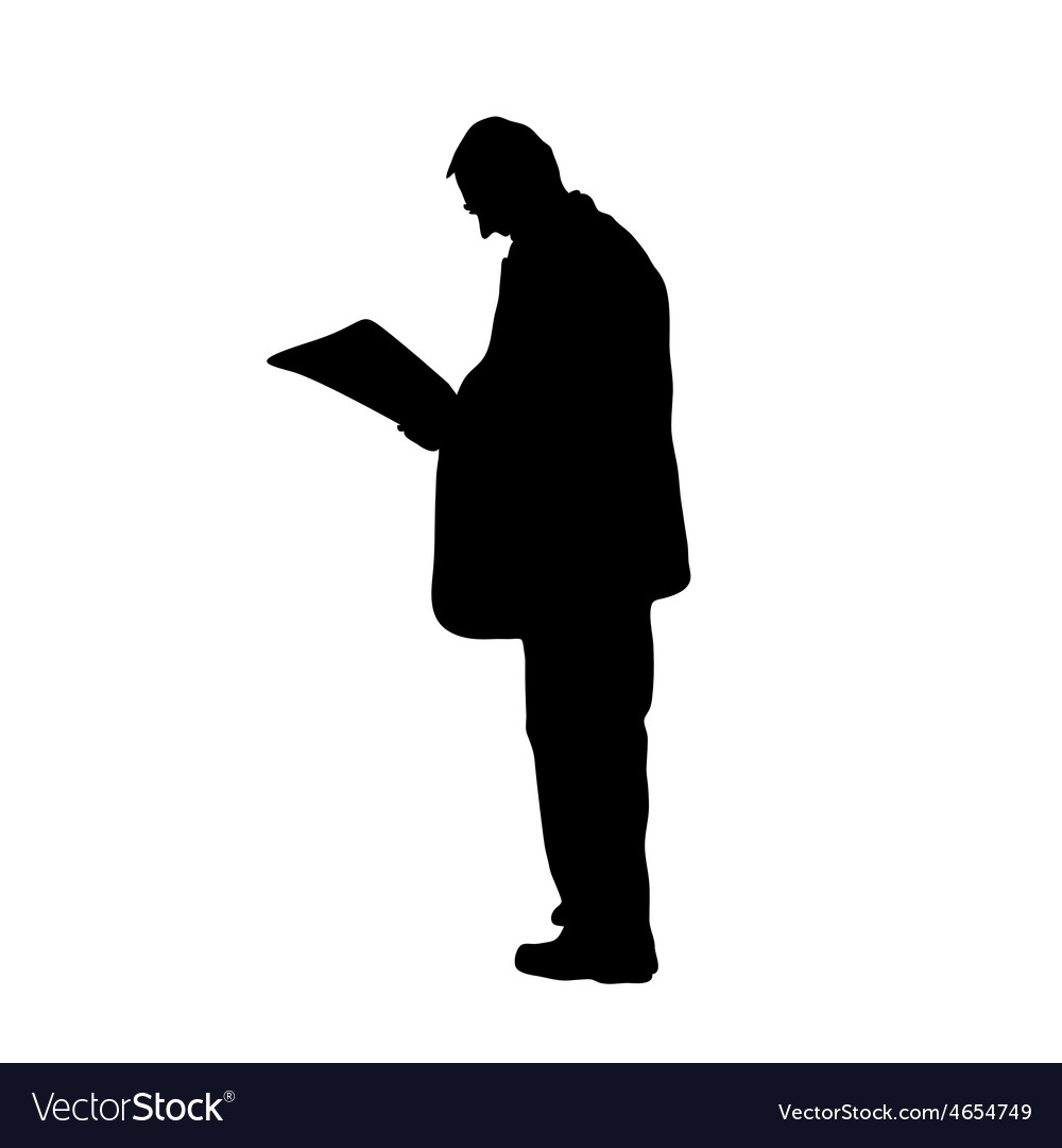 Man read newspaper vector | Price: 1 Credit (USD $1)