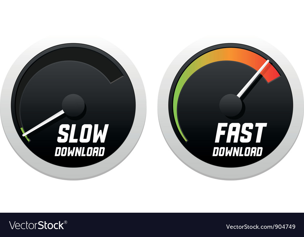 Speedometers with slow and fast download vector | Price: 1 Credit (USD $1)