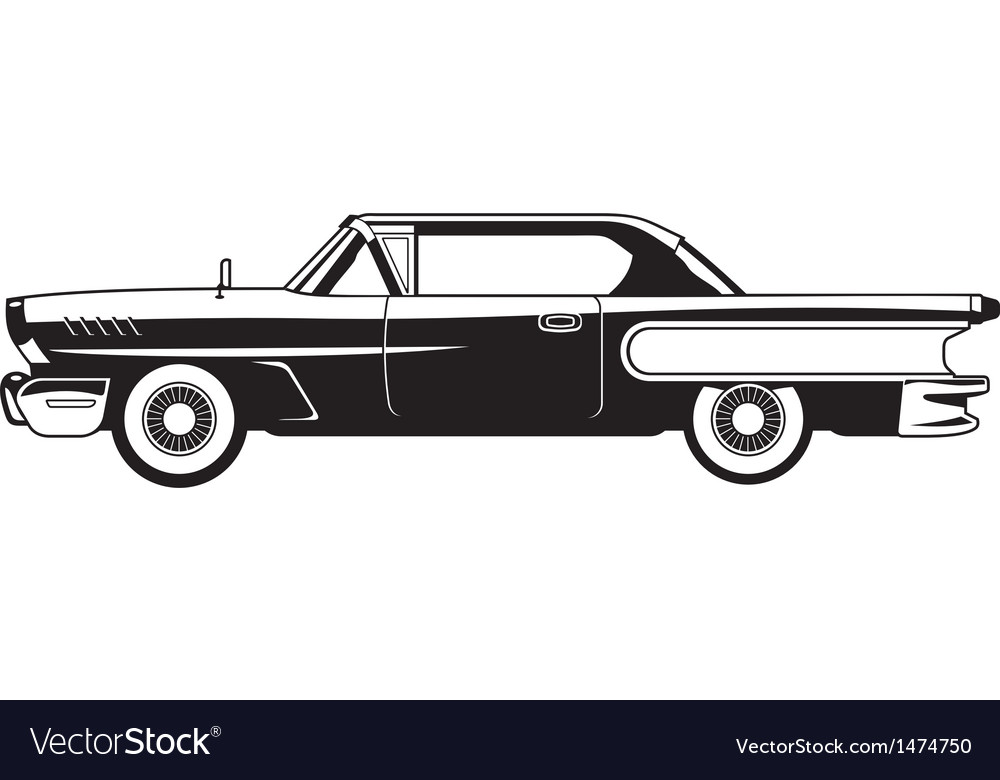 Classic cars 60s vector | Price: 1 Credit (USD $1)