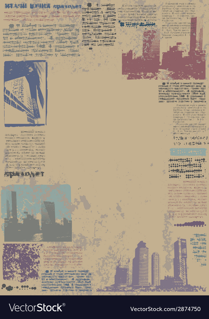 Grunge city border vector | Price: 1 Credit (USD $1)