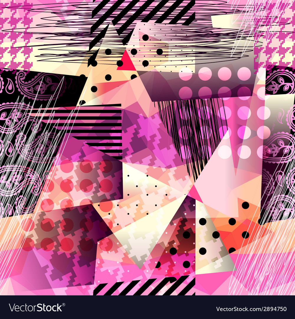 Grunge pattern in cubism style vector | Price: 1 Credit (USD $1)