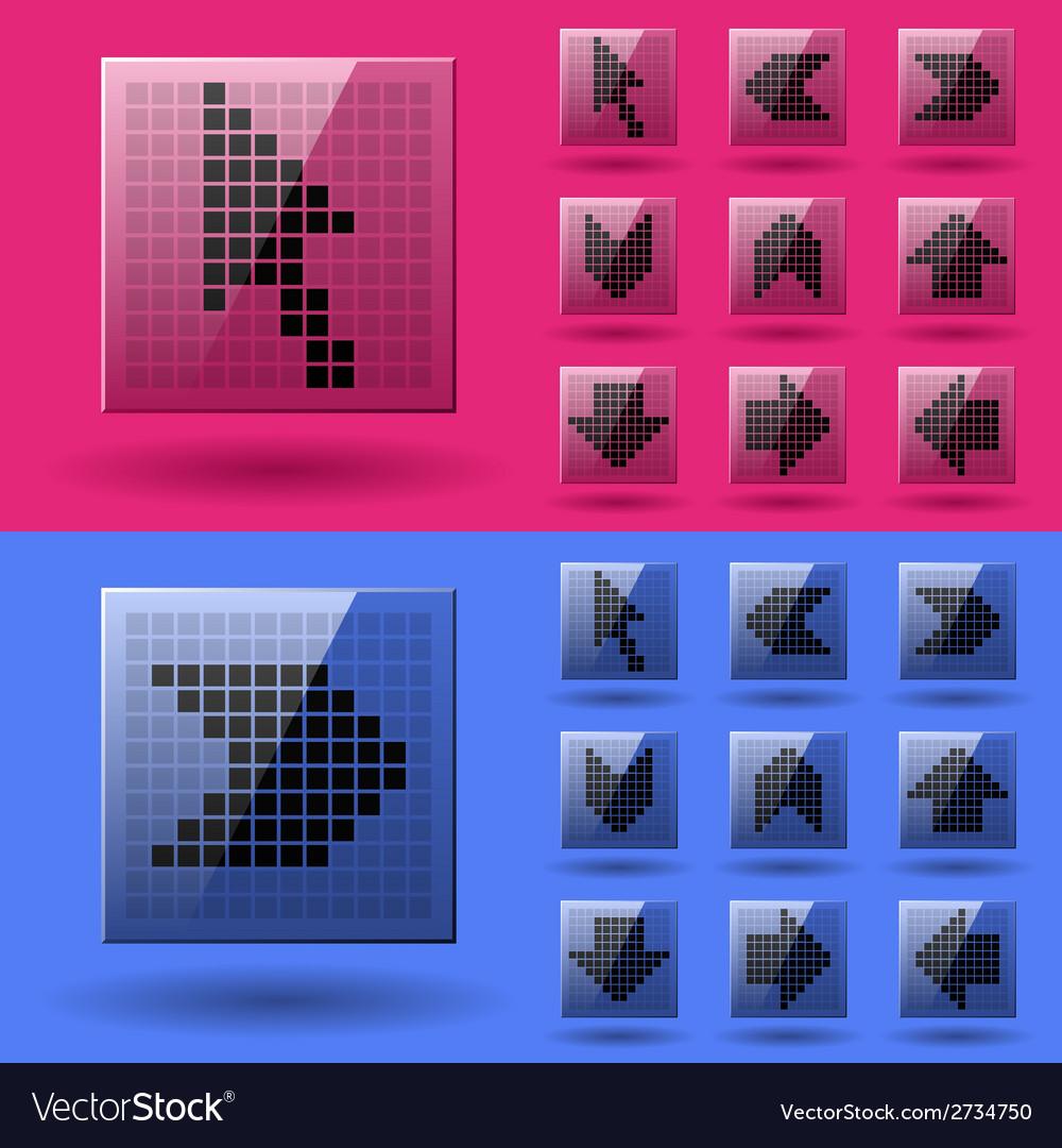 Lcd display pixel arrows vector   Price: 1 Credit (USD $1)