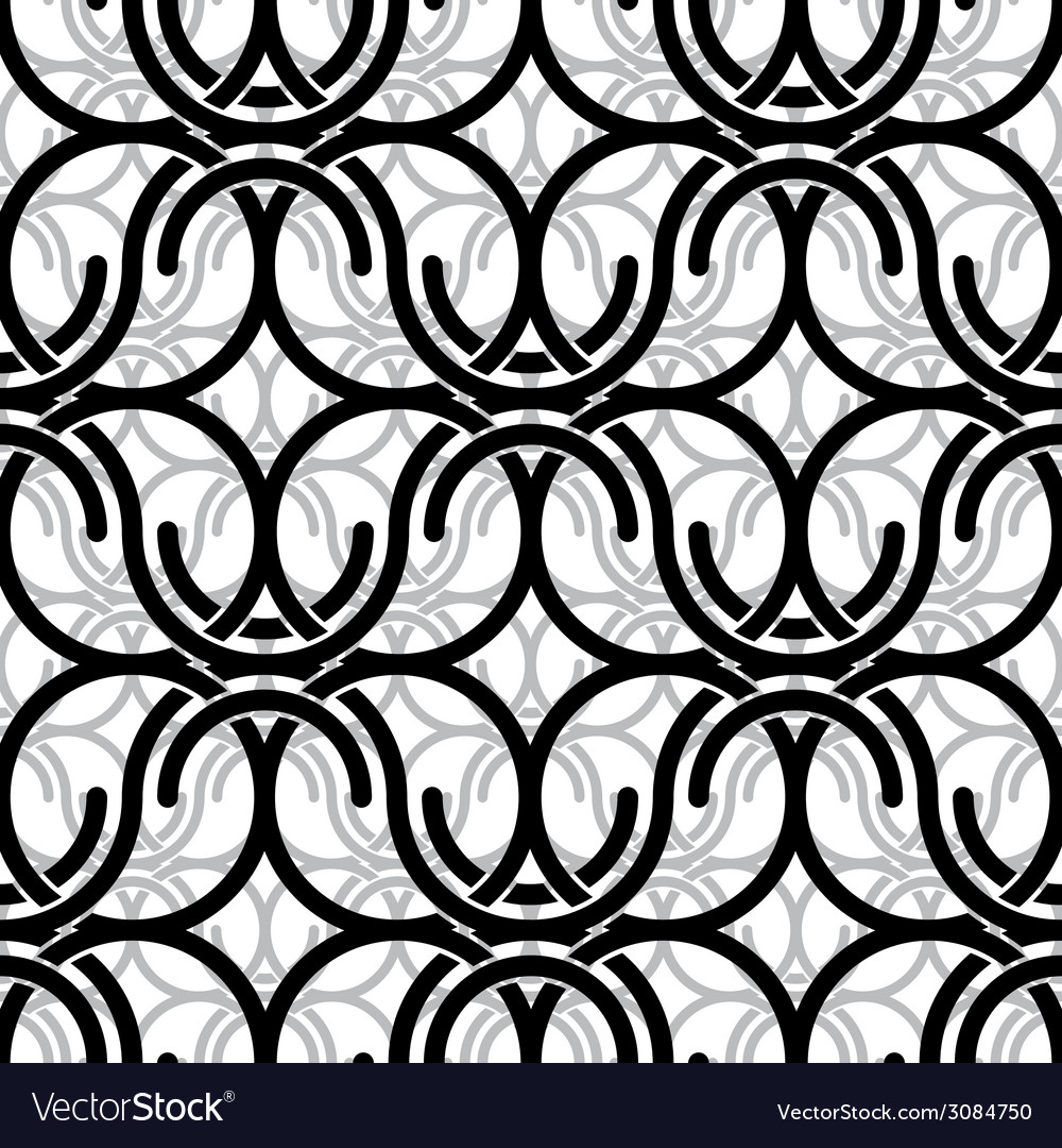 Monochrome vintage style mesh seamless pattern vector | Price: 1 Credit (USD $1)
