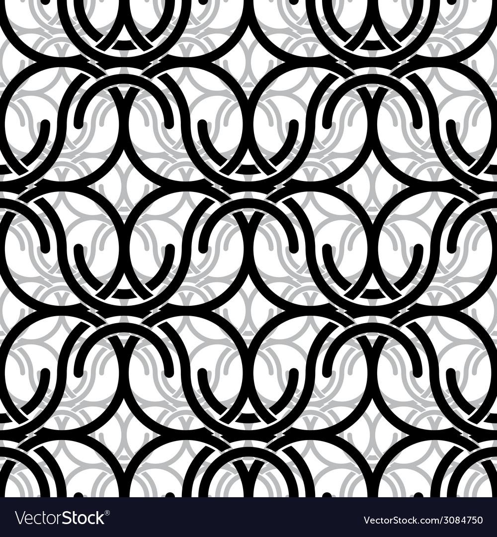 Monochrome vintage style mesh seamless pattern vector   Price: 1 Credit (USD $1)