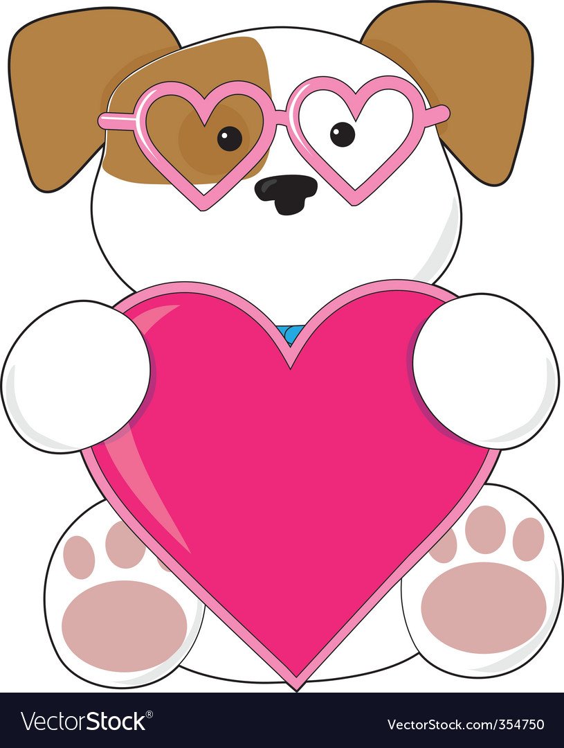 Puppy love sunglasses vector | Price: 1 Credit (USD $1)