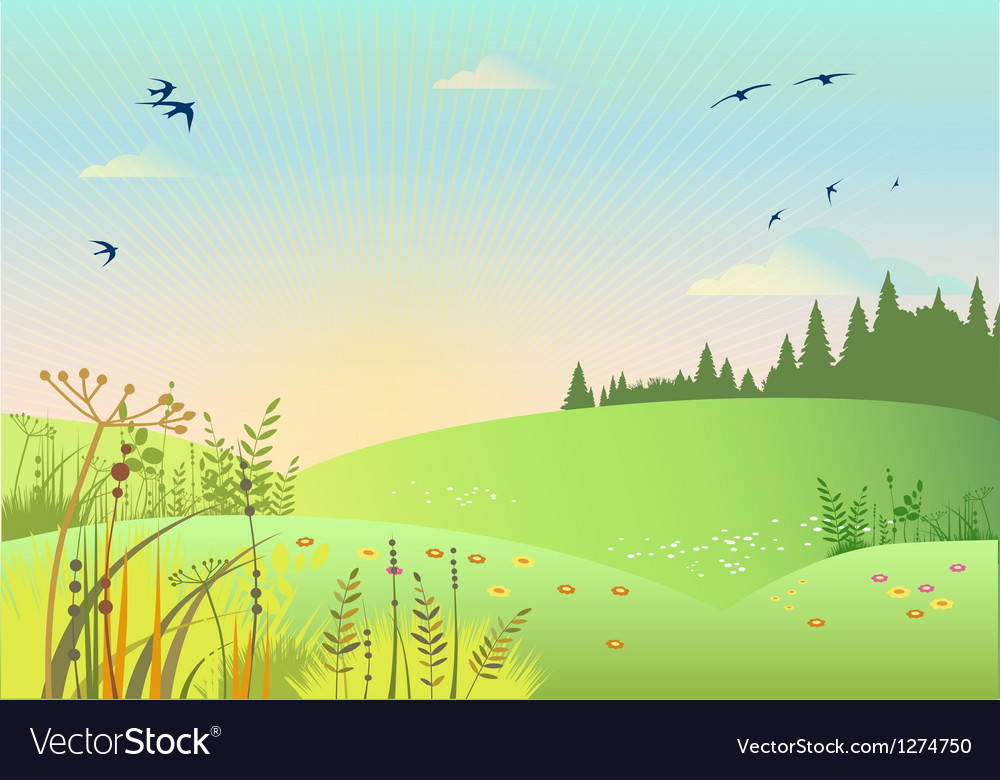 Rural summer vector | Price: 1 Credit (USD $1)