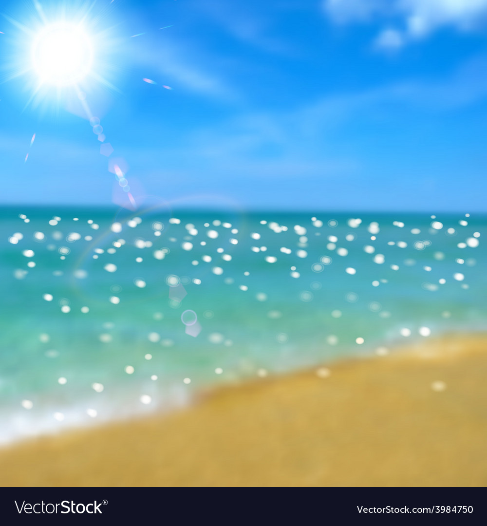Sea beach and sun vector | Price: 1 Credit (USD $1)