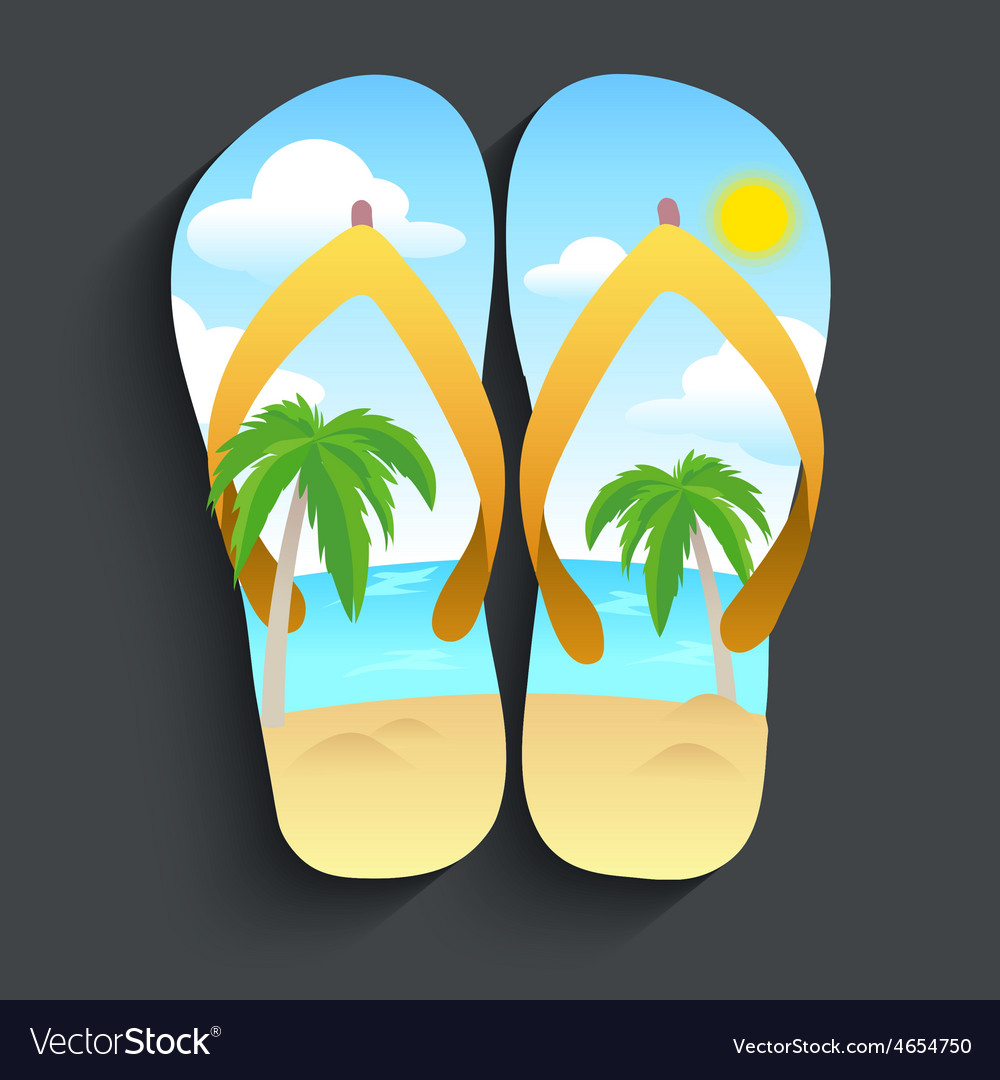 Slippers beach vector | Price: 1 Credit (USD $1)