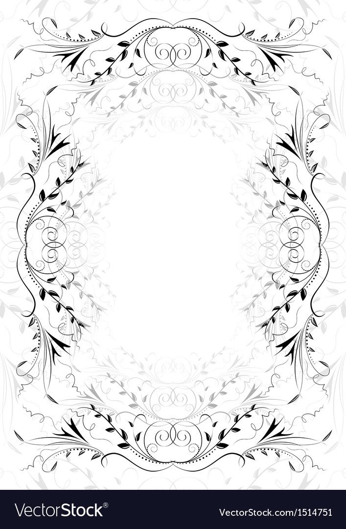 Abstract floral ornament on white background vector | Price: 1 Credit (USD $1)