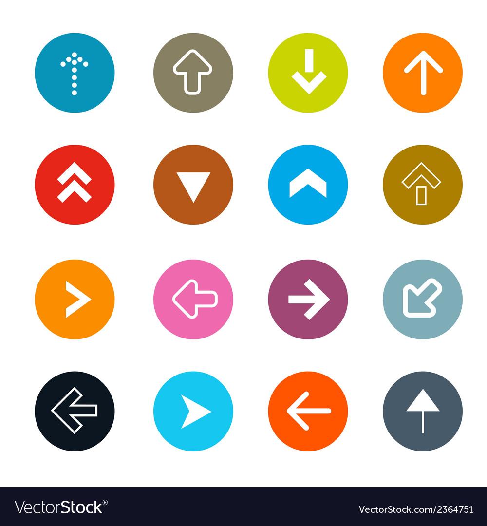 Arrows set in circles vector | Price: 1 Credit (USD $1)