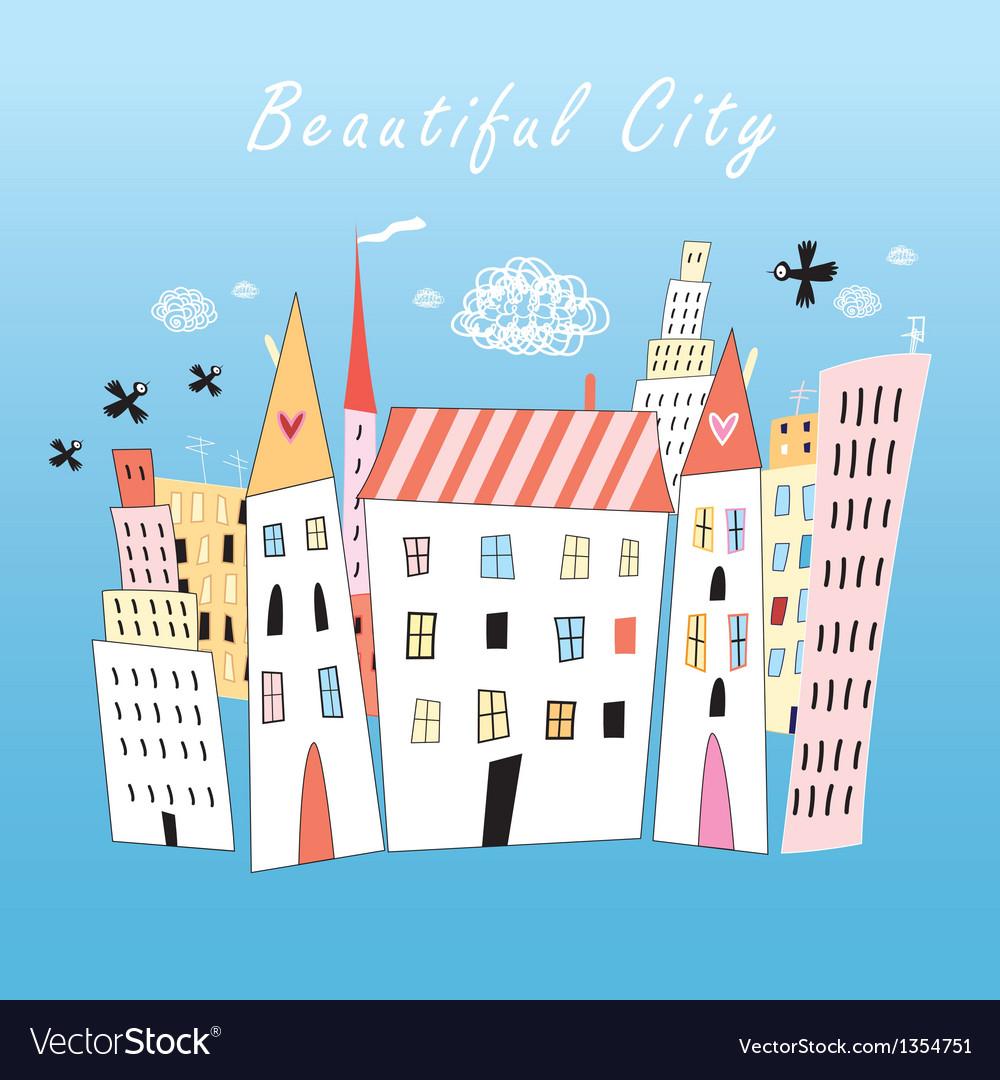 City buildings vector | Price: 1 Credit (USD $1)