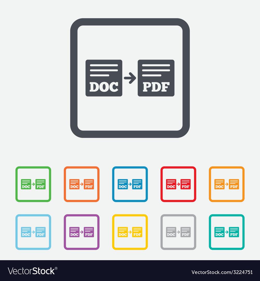Export doc to pdf icon file document symbol vector   Price: 1 Credit (USD $1)