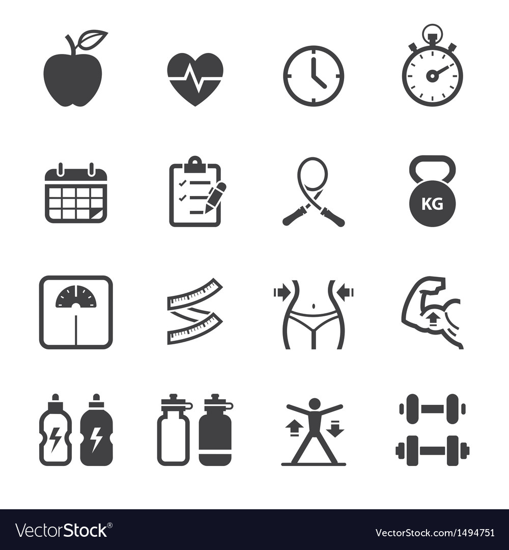 Fitness and health icons vector | Price: 1 Credit (USD $1)