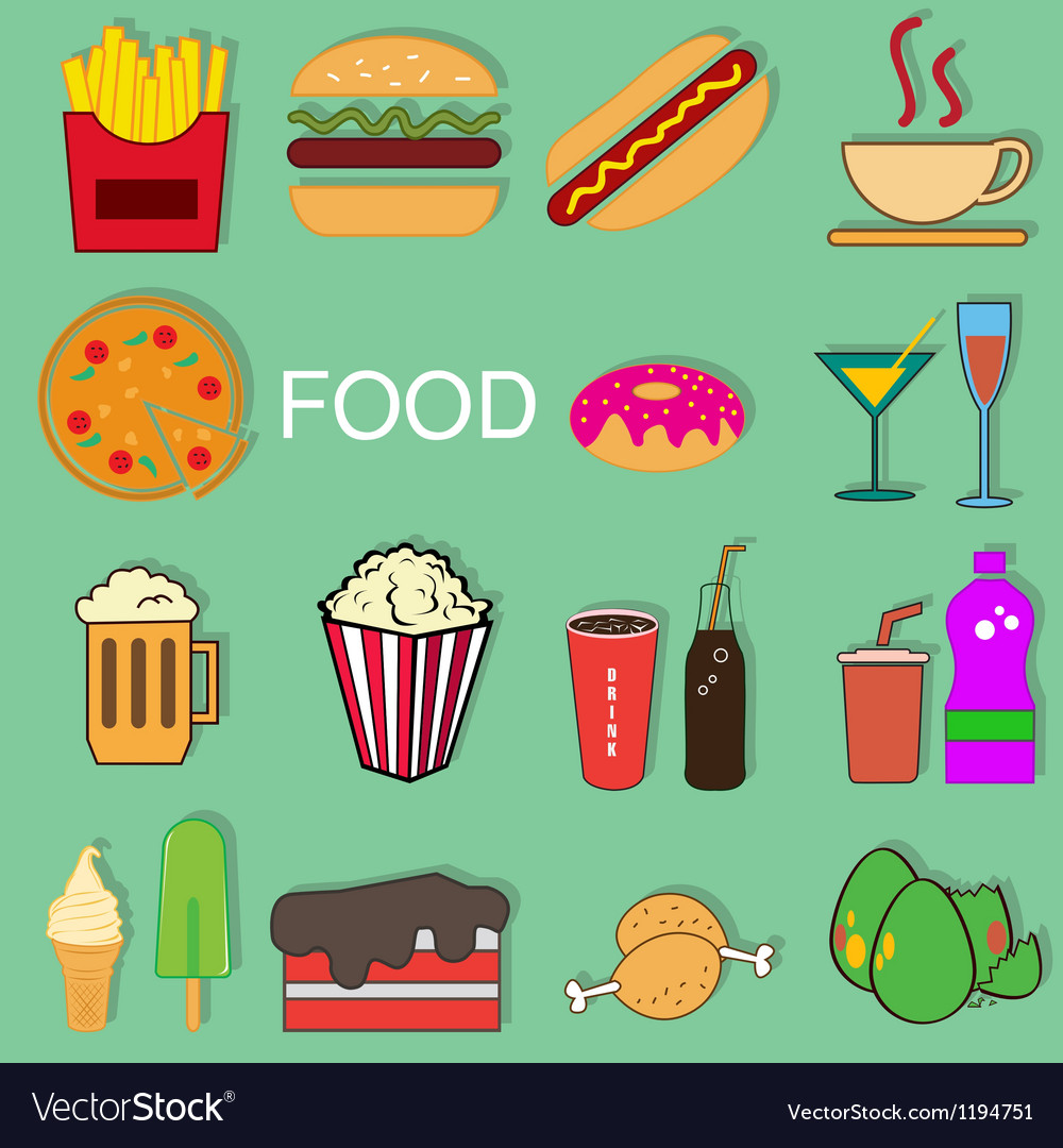 Food episode collection vector | Price: 1 Credit (USD $1)