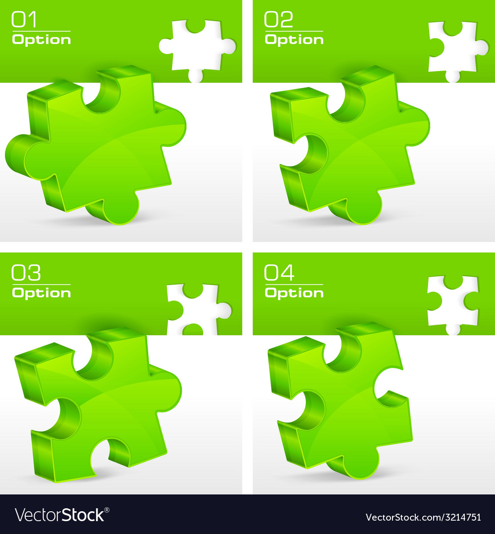 Green puzzles vector | Price: 1 Credit (USD $1)
