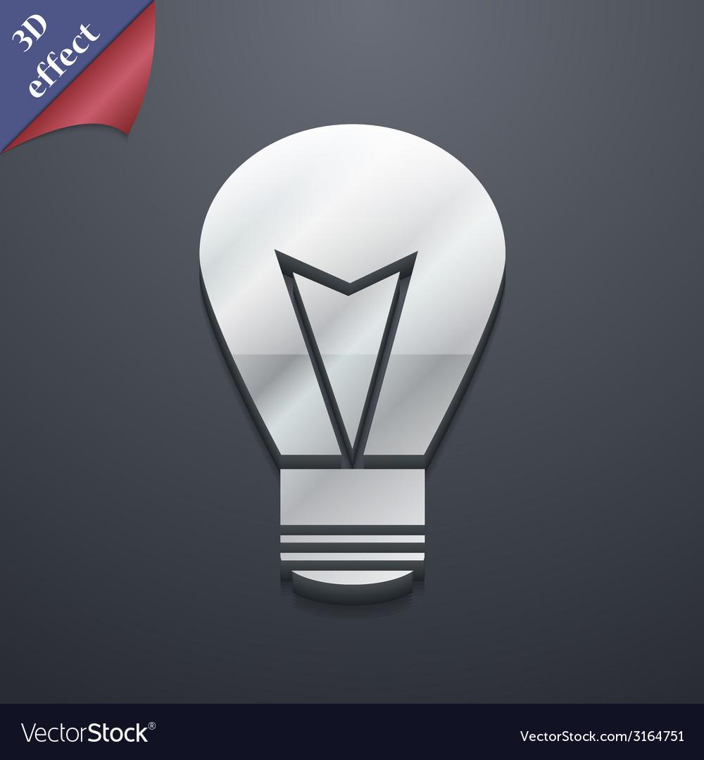 Light lamp icon symbol 3d style trendy modern vector   Price: 1 Credit (USD $1)