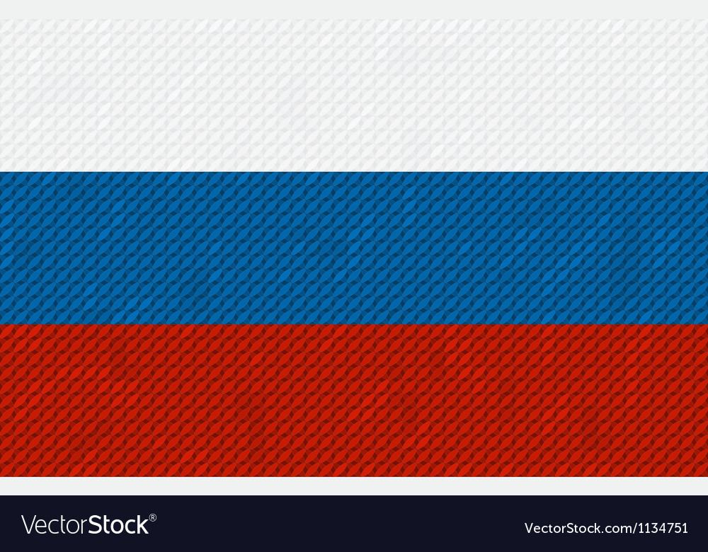 Russian flag background made with embroidery vector | Price: 1 Credit (USD $1)
