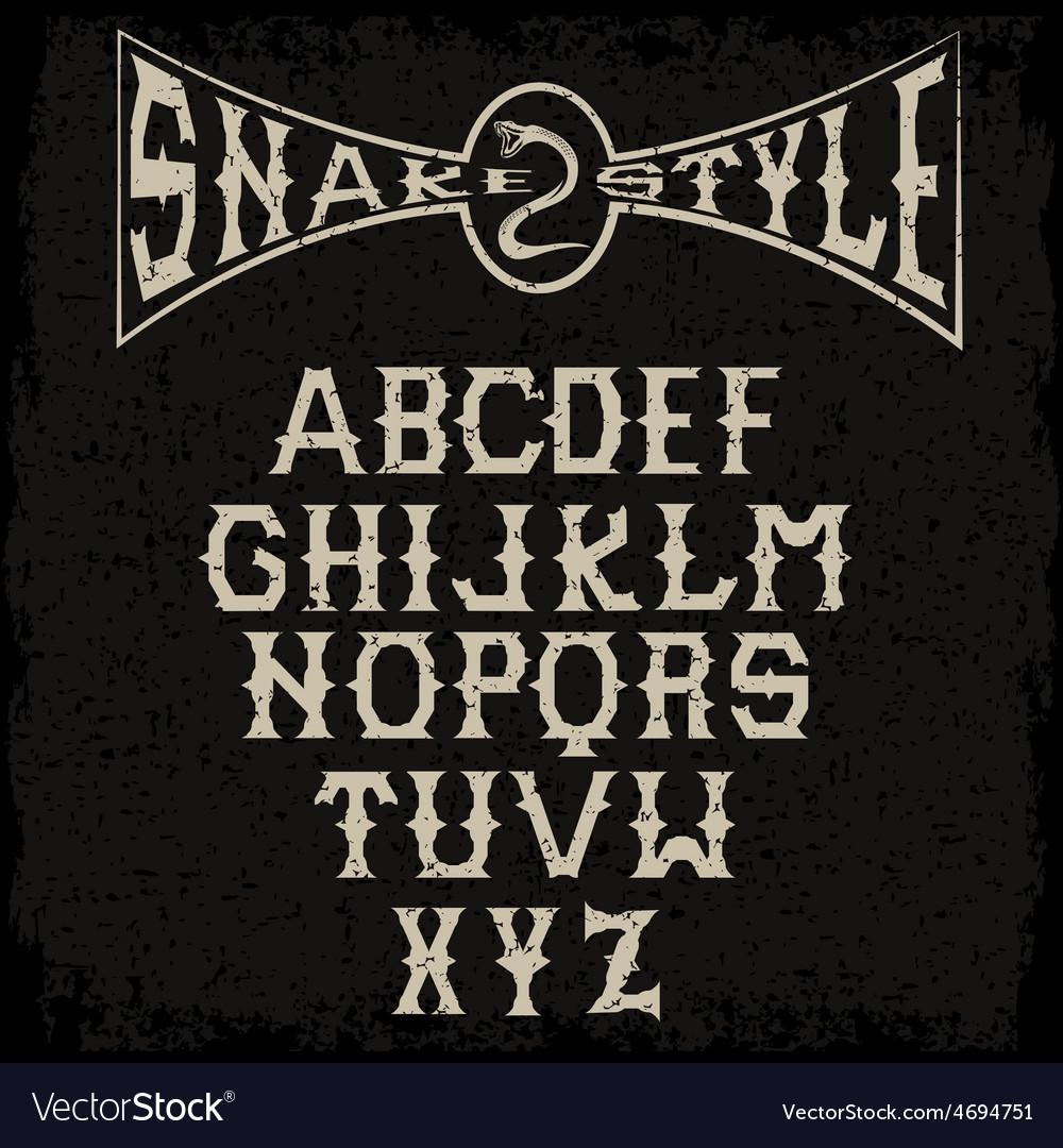Snake style gothic grunge alphabet vector | Price: 1 Credit (USD $1)