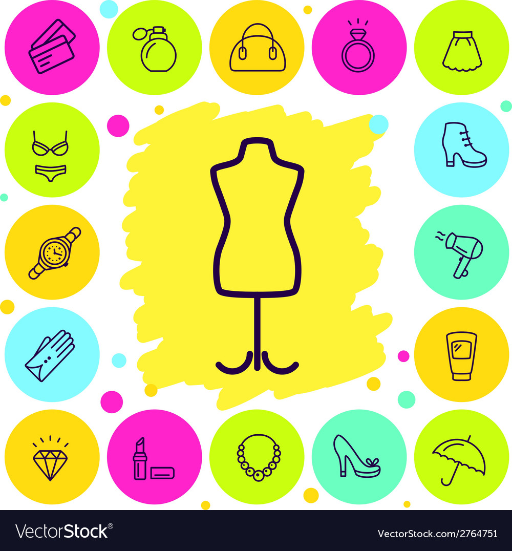Womans shopping vector | Price: 1 Credit (USD $1)