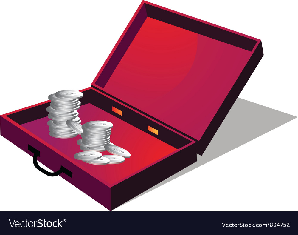 Briefcase with coin vector | Price: 1 Credit (USD $1)