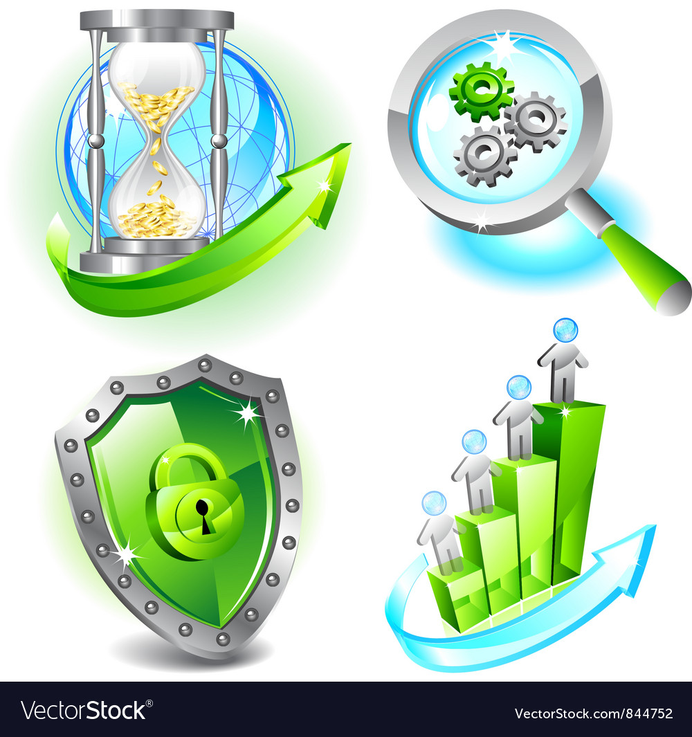 Business icons set vector   Price: 1 Credit (USD $1)