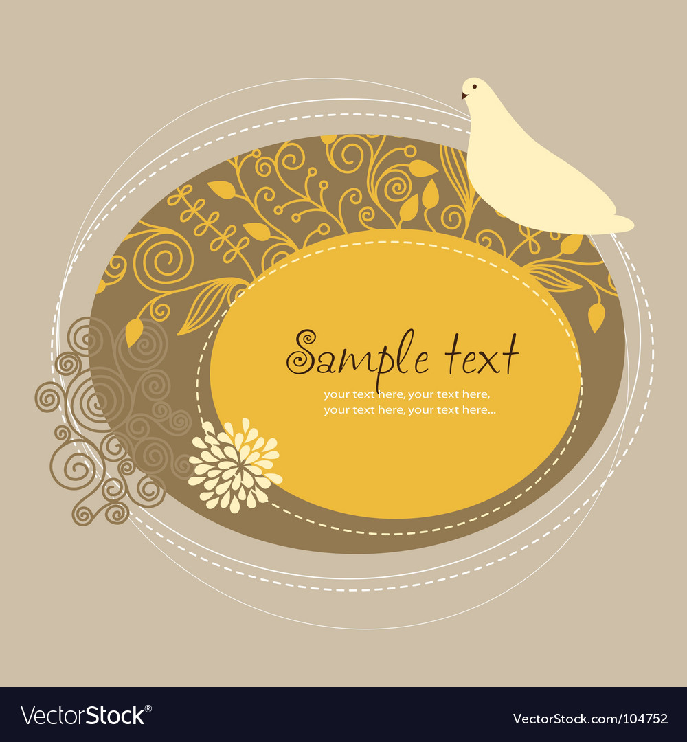Floral frame with bird vector | Price: 1 Credit (USD $1)