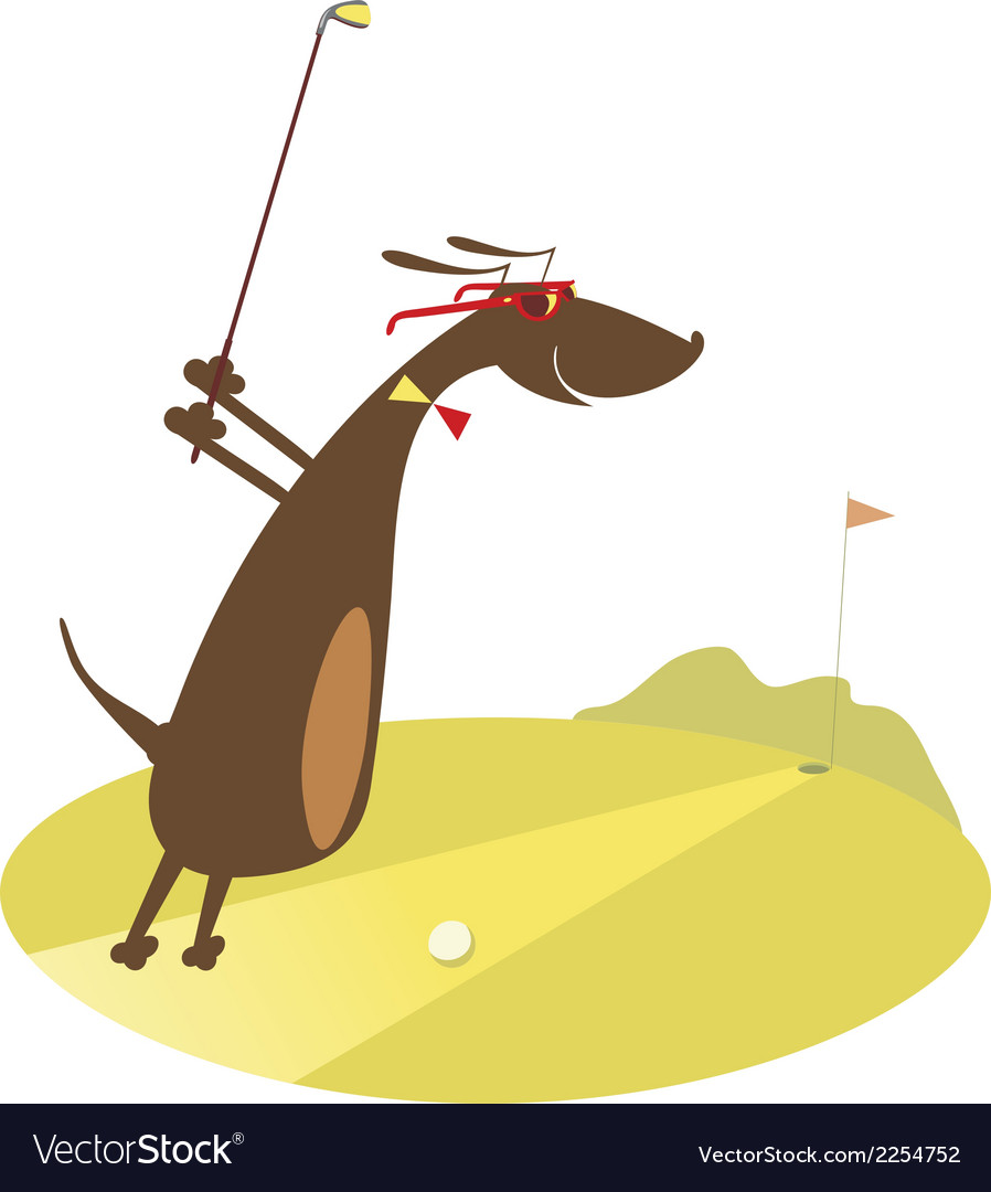 Good day for playing golf vector | Price: 1 Credit (USD $1)