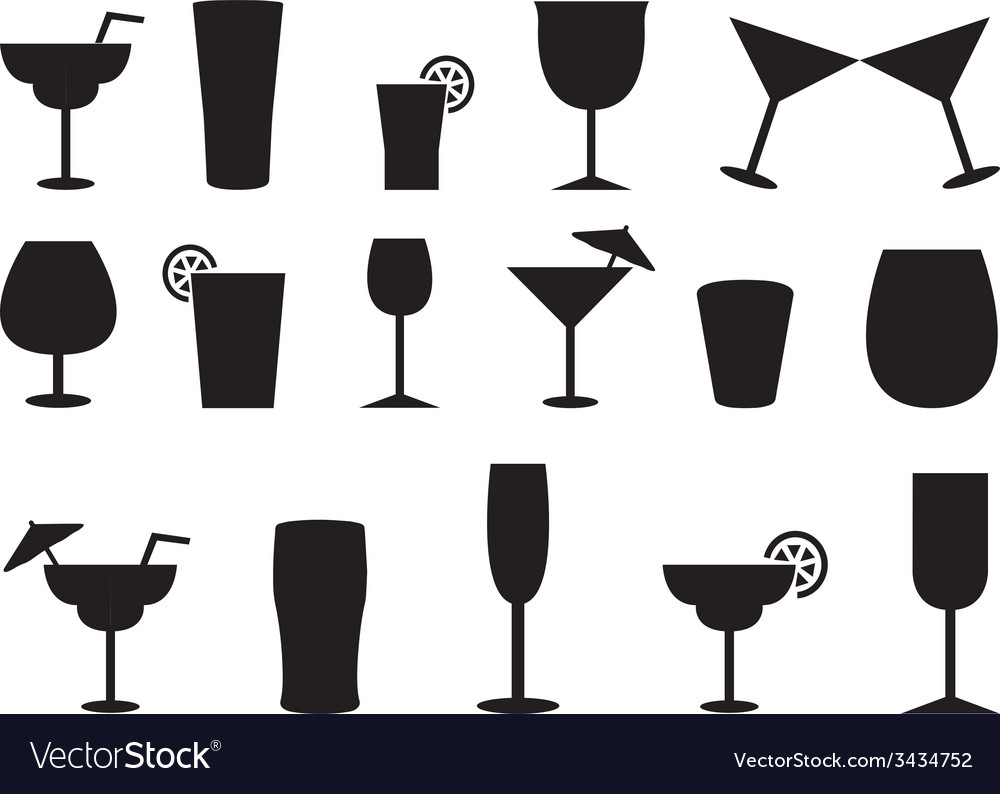 Juice and cocktail glasses vector | Price: 1 Credit (USD $1)