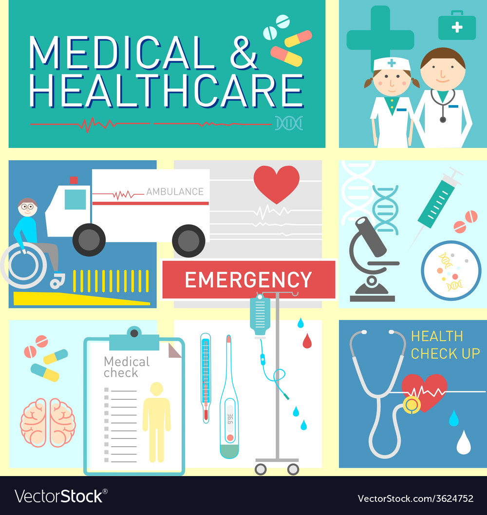 Medical and healthcare flat icon design vector | Price: 1 Credit (USD $1)