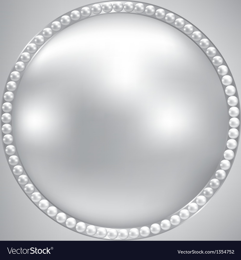Pearl and silver frame vector   Price: 1 Credit (USD $1)