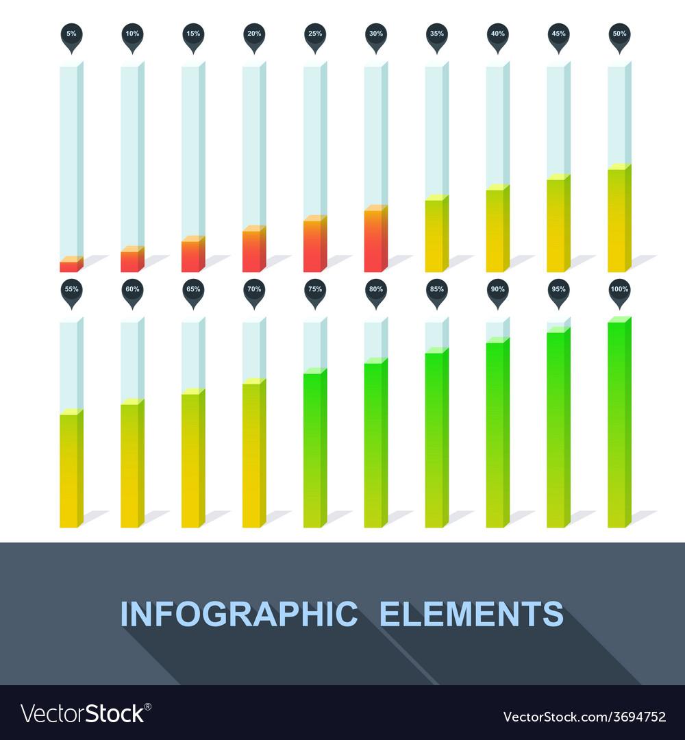 Progress infographics statistics with interest vector | Price: 1 Credit (USD $1)
