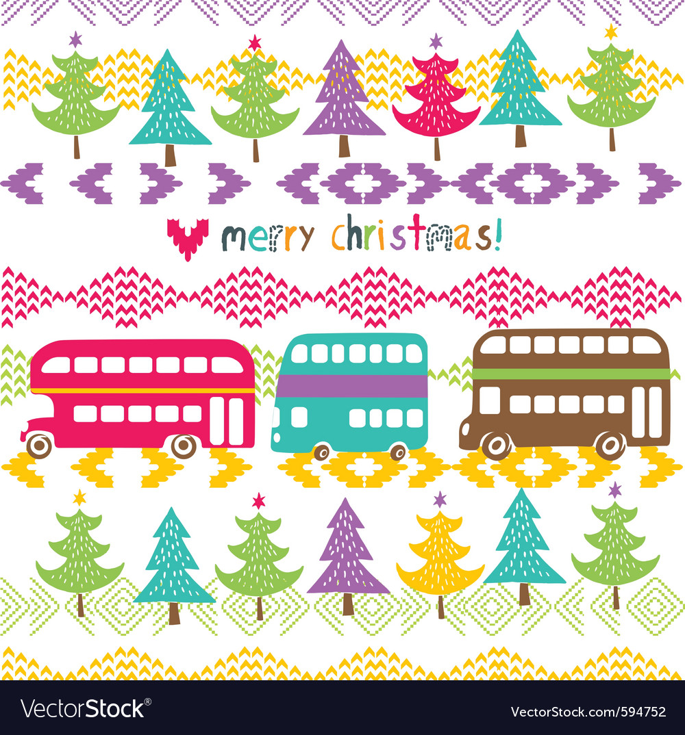 Stitched christmas vector | Price: 1 Credit (USD $1)