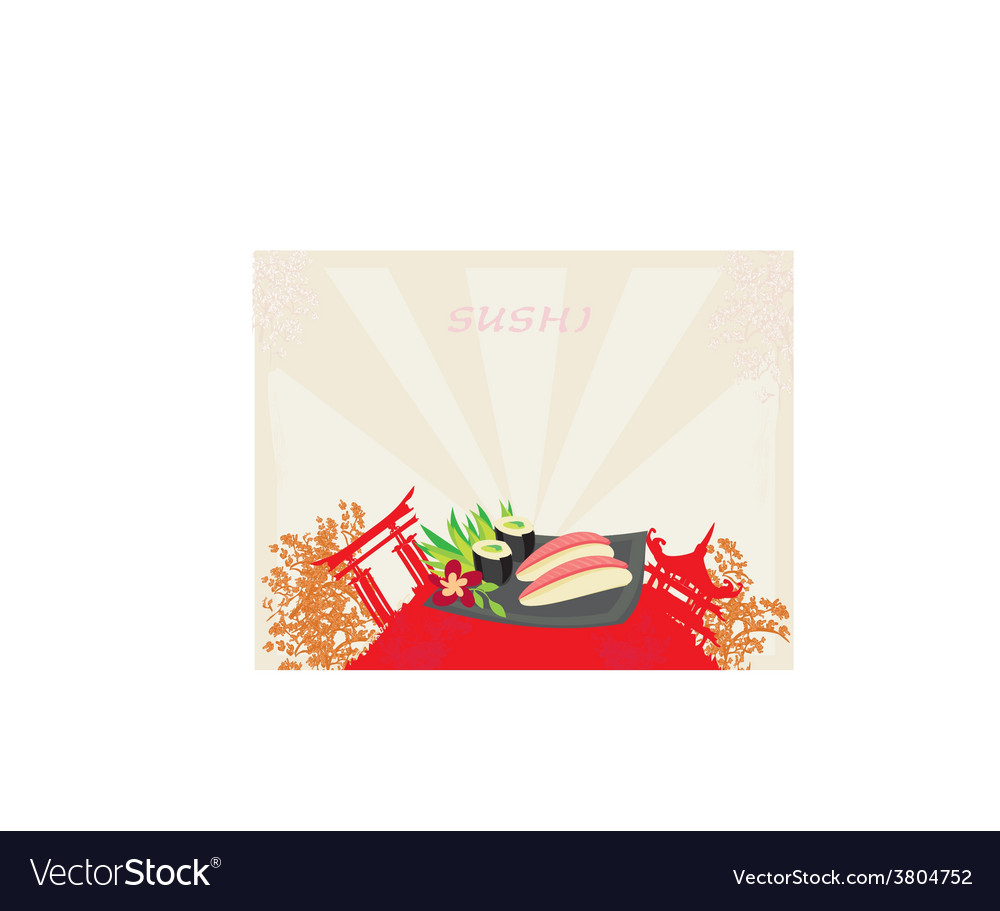 Template of traditional japanese food menu vector | Price: 1 Credit (USD $1)