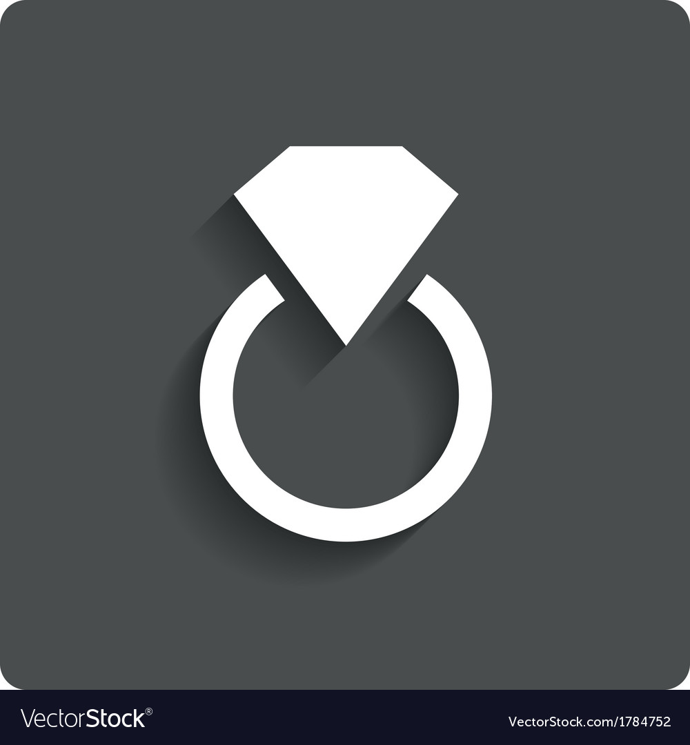 Wedding ring with diamond jewelry icon love vector | Price: 1 Credit (USD $1)