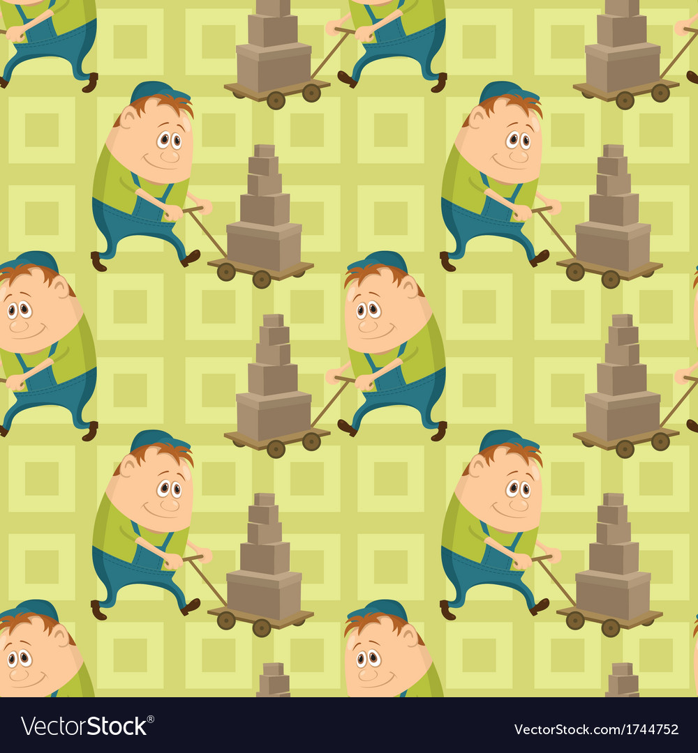 Worker porters seamless pattern vector | Price: 1 Credit (USD $1)