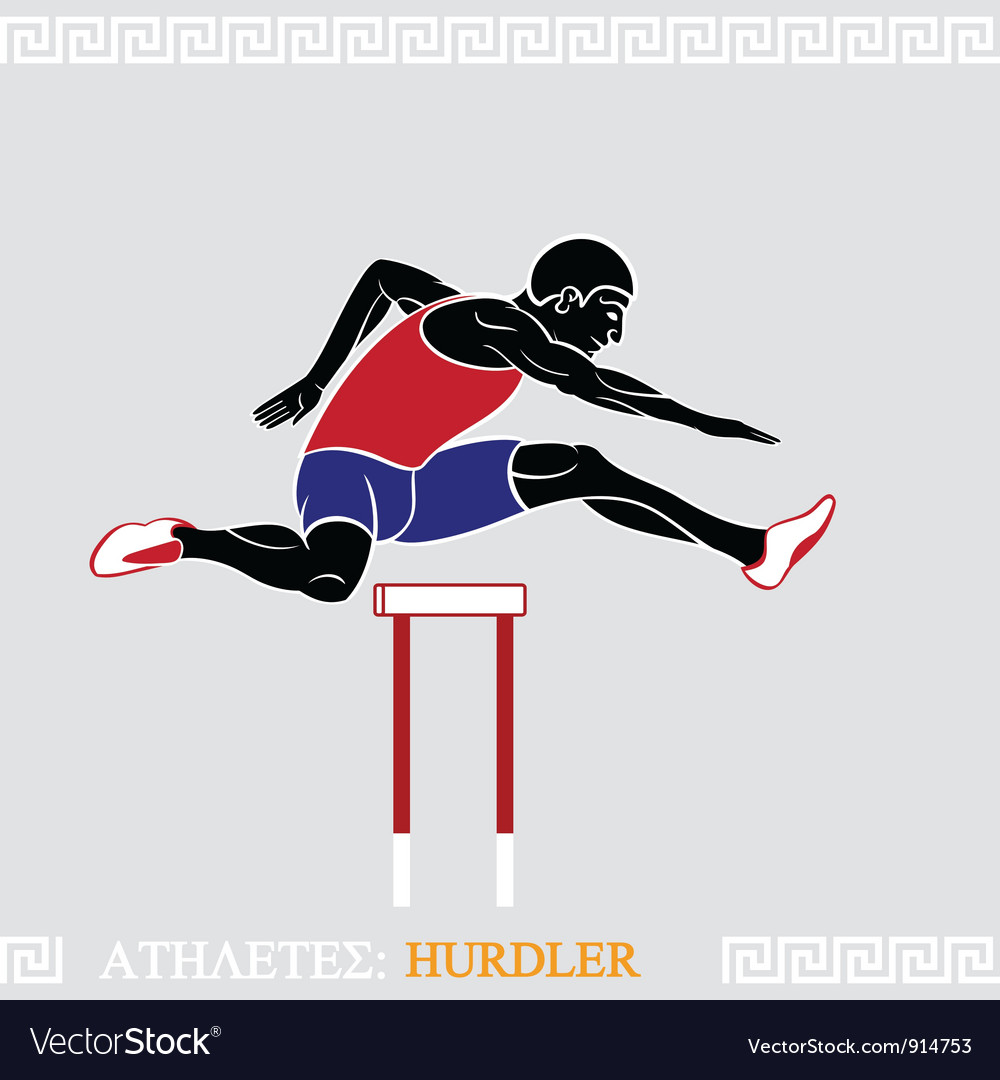 Athlete hurdler vector | Price: 3 Credit (USD $3)
