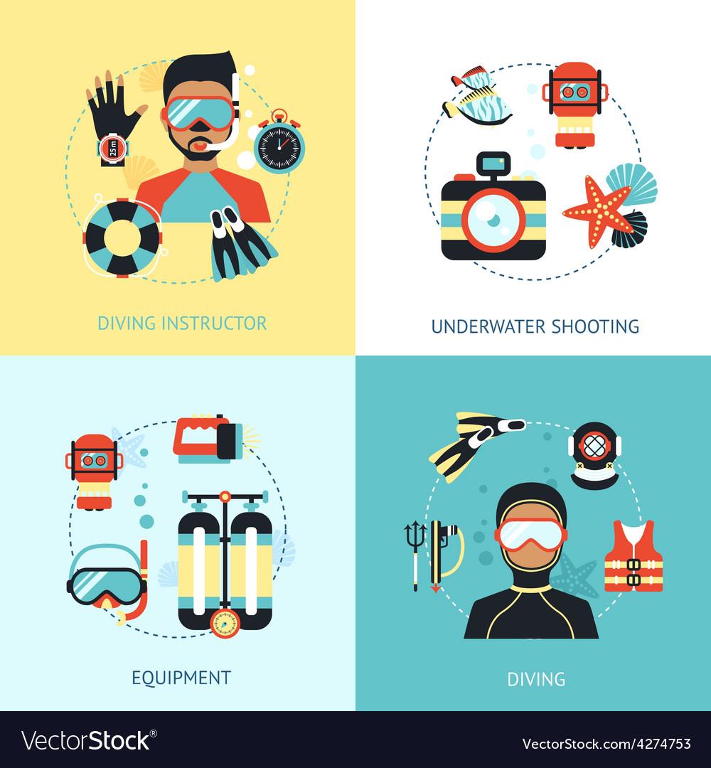 Diving design concept vector | Price: 1 Credit (USD $1)