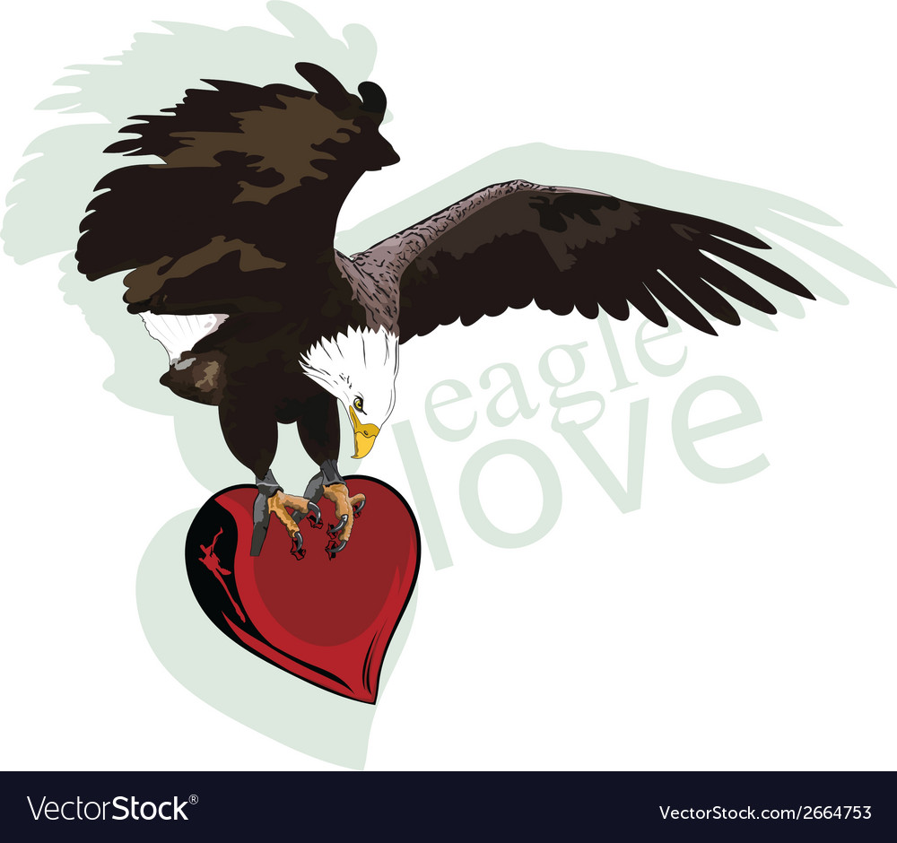 Eagle heart vector | Price: 1 Credit (USD $1)