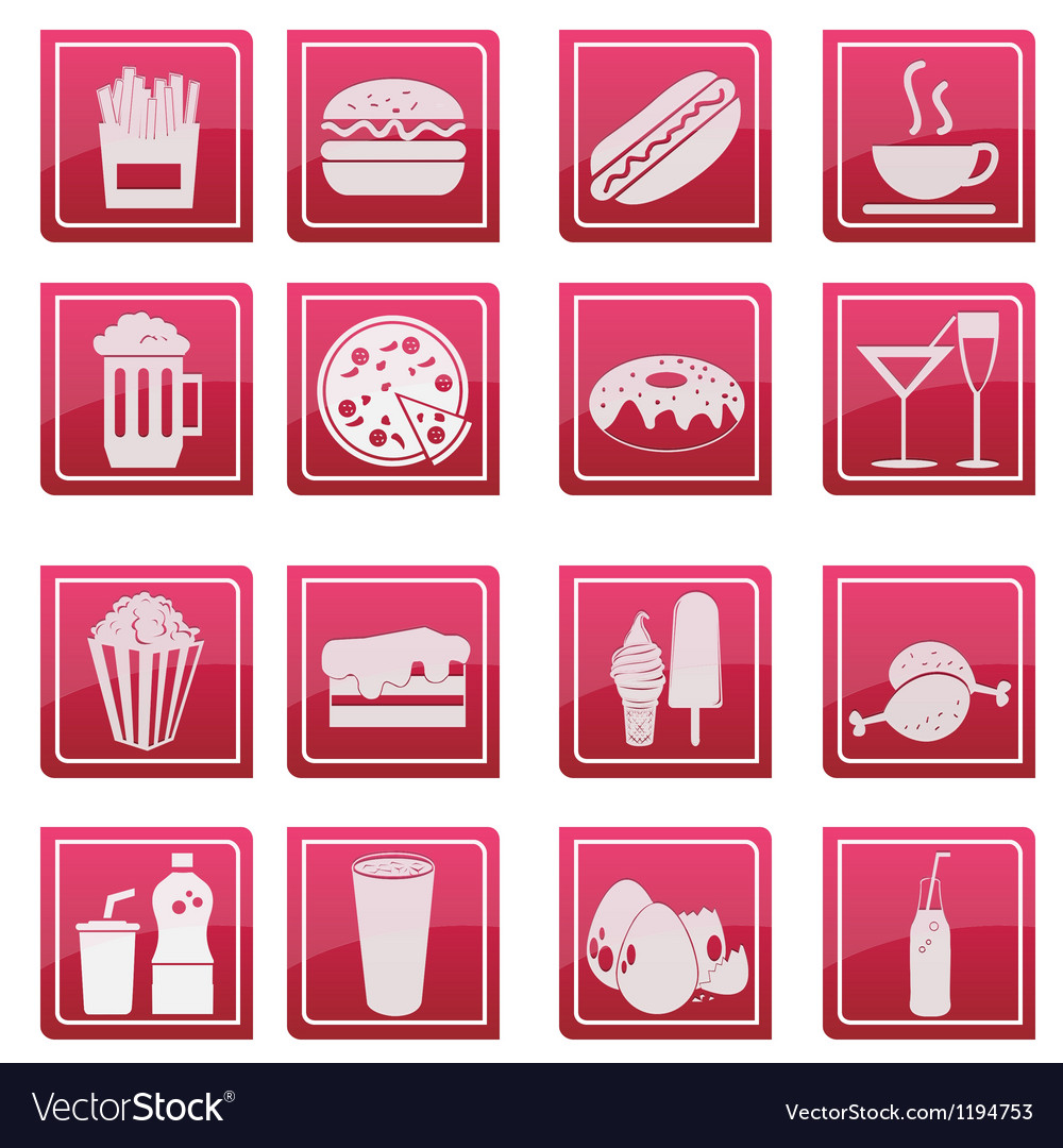 Food icon glossy style vector | Price: 1 Credit (USD $1)