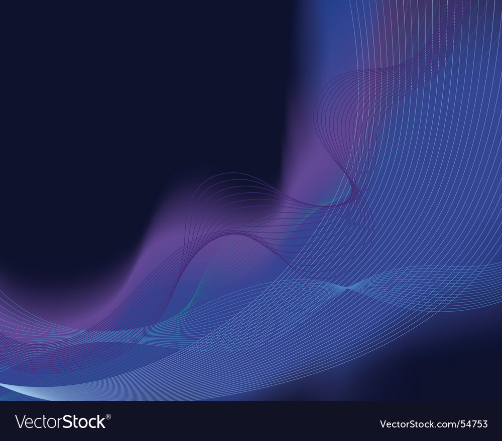 Glowing water waves vector | Price: 1 Credit (USD $1)