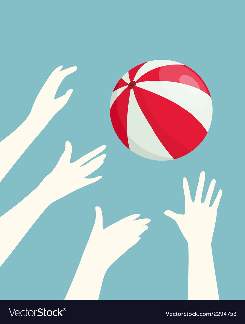 Hands playing ball vector | Price: 1 Credit (USD $1)