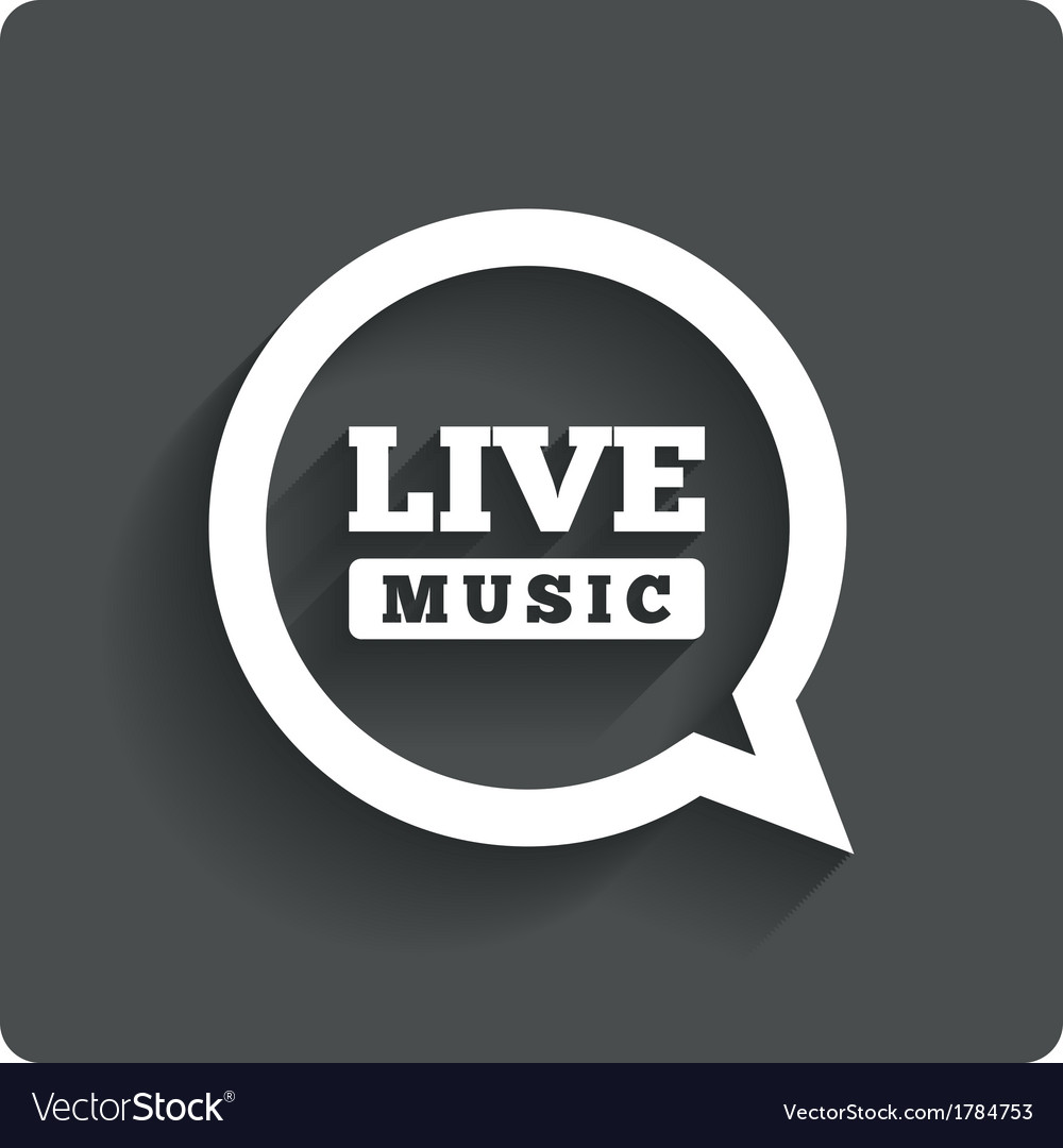 Live music icon speech bubble label karaoke vector | Price: 1 Credit (USD $1)