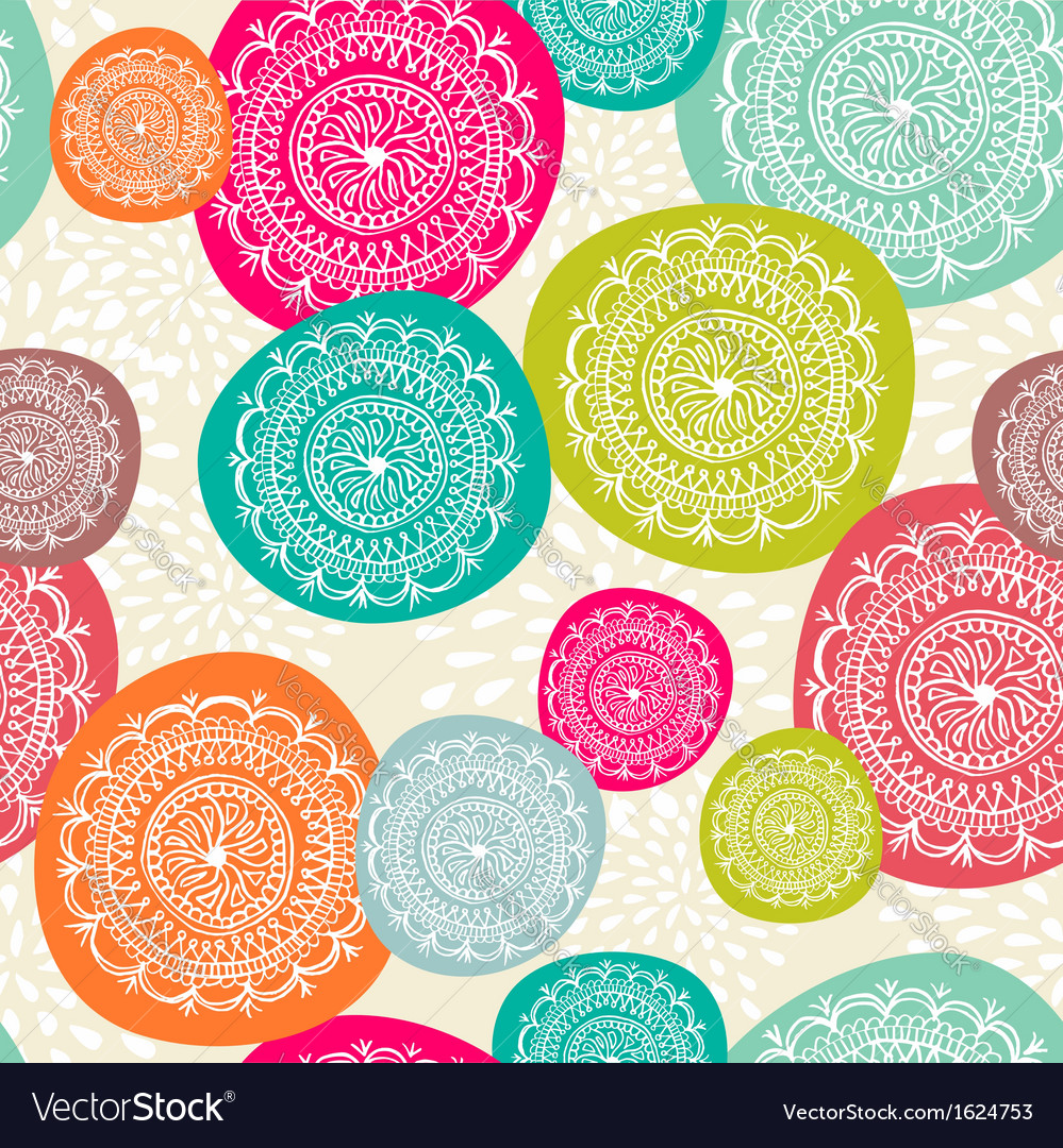 Merry christmas circle seamless pattern background vector | Price: 1 Credit (USD $1)