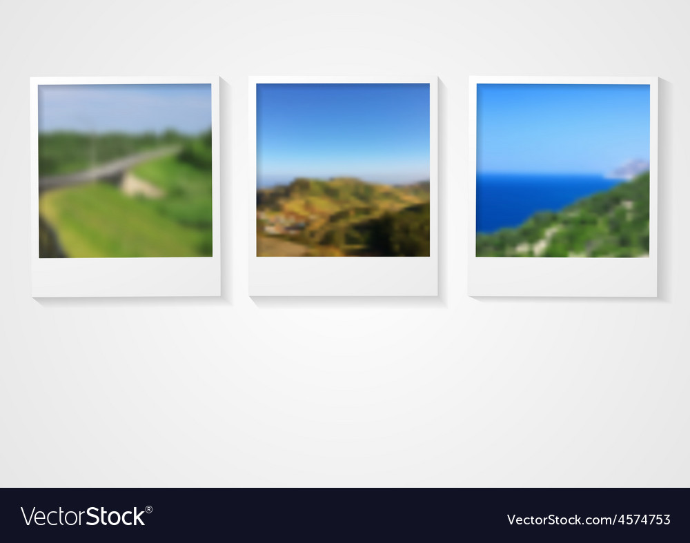 Polaroid photo frames abstract corporate design vector | Price: 1 Credit (USD $1)