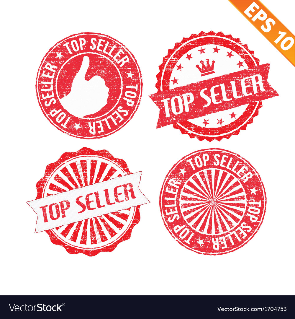Stamp sticker top seller collection - - eps vector | Price: 1 Credit (USD $1)