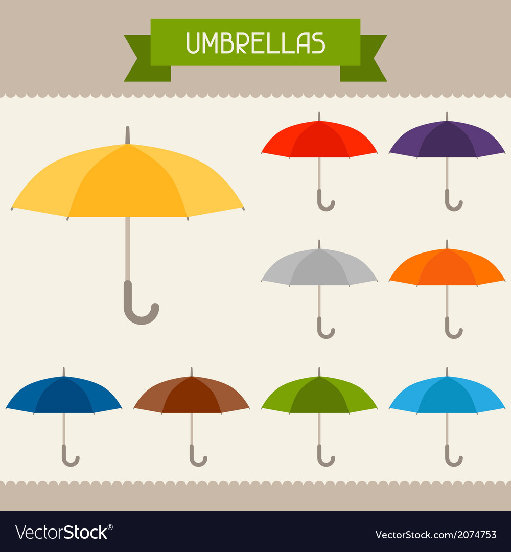 Umbrellas colored templates for your design in vector | Price: 1 Credit (USD $1)
